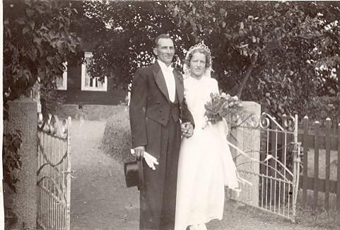Brudparet Karl och Mildred Svensson