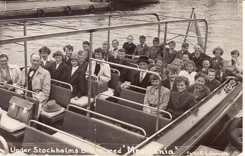 Skolresa till Stockholm. Lärare var Edvard Tui.